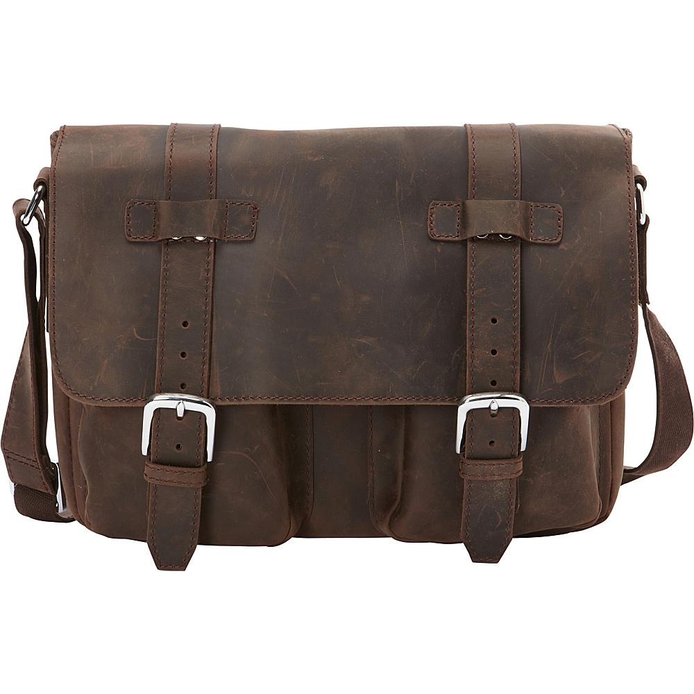 Vagabond Traveler Full Grain Leather Casual Messenger Bag Vintage Distress - Vagabond Traveler Messenger Bags - Work Bags & Briefcases, Messenger Bags