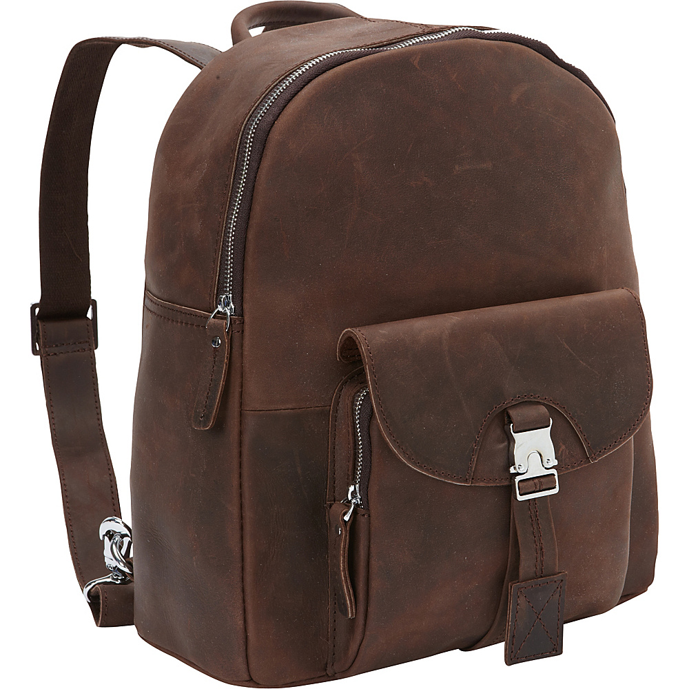 Vagabond Traveler Full Grain Cowhide Leather Backpack Distress - Vagabond Traveler Everyday Backpacks - Backpacks, Everyday Backpacks