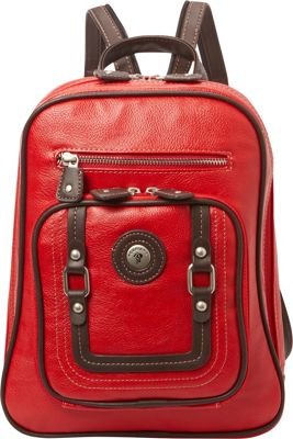 Mouflon Original RFID Generation Sling Backpack Red/Brown - Mouflon Original Manmade Handbags