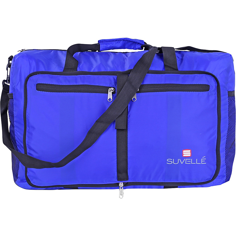 Suvelle Lightweight 21 Travel Foldable Duffel Bag Blue Suvelle Travel Duffels