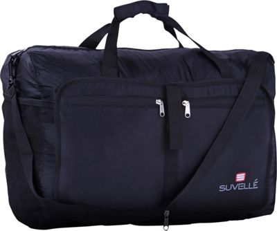 Suvelle Lightweight 21 inch Travel Foldable Duffel Bag Black - Suvelle Travel Duffels