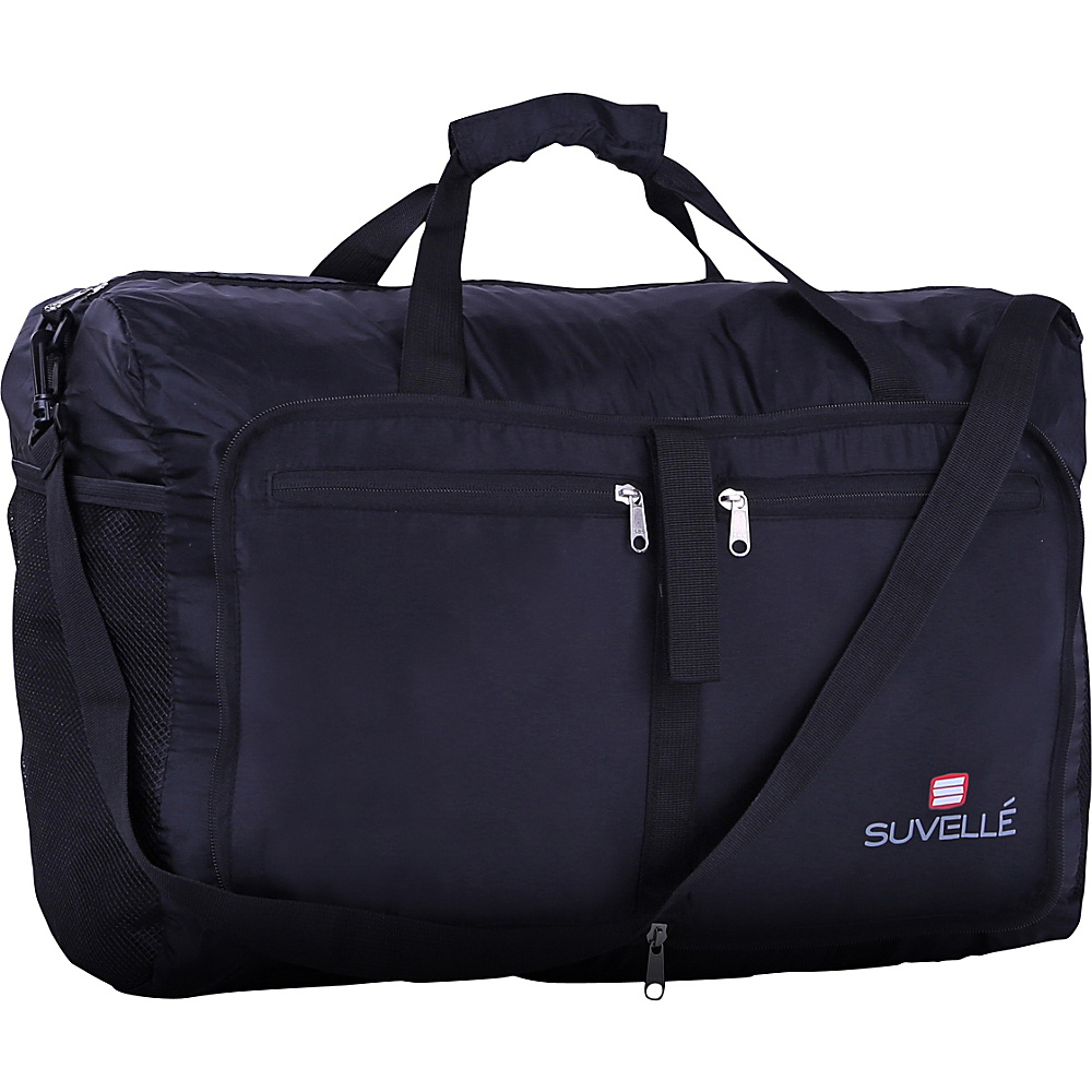 Suvelle Lightweight 21 Travel Foldable Duffel Bag Black Suvelle Travel Duffels