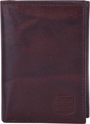 Suvelle Trifold Mens Genuine Leather Slim RFID Wallet Brown - Suvelle Men's Wallets