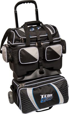 Columbia 300 Bags Team Columbia Four Ball Roller Black/Silver - Columbia 300 Bags Bowling Bags