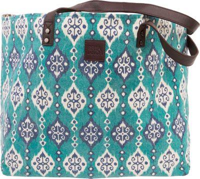 Bella Taylor Wide Tote Lanai Blue - Bella Taylor Fabric Handbags