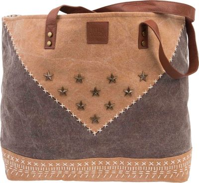 Bella Taylor Wide Tote Lea Brown - Bella Taylor Fabric Handbags