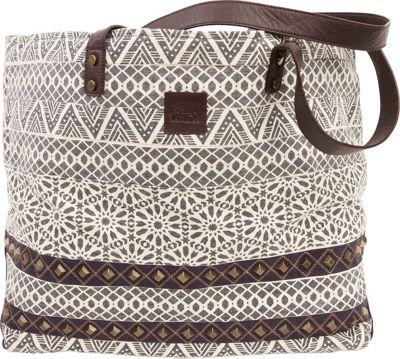 Bella Taylor Wide Tote Brooke White - Bella Taylor Fabric Handbags