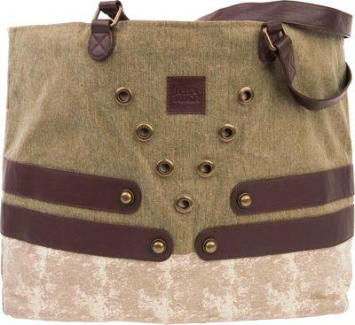 Bella Taylor Wide Tote Delta Green - Bella Taylor Fabric Handbags