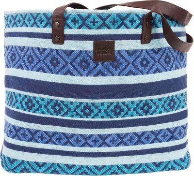 Bella Taylor Wide Tote Eliza Blue - Bella Taylor Fabric Handbags