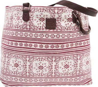 Bella Taylor Wide Tote Kayla White - Bella Taylor Fabric Handbags