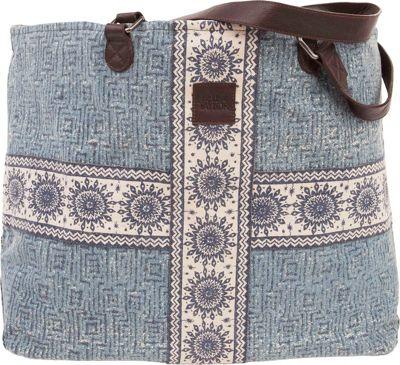 Bella Taylor Wide Tote Kendall Blue - Bella Taylor Fabric Handbags