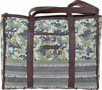 Bella Taylor Presley Market Tote Green - Bella Taylor Fabric Handbags