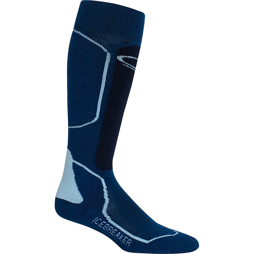 Icebreaker Mens Ski+ Medium OTC Sock L - Largo/Admiral/Pearl - Icebreaker Legwear/Socks - Fashion Accessories, Legwear/Socks