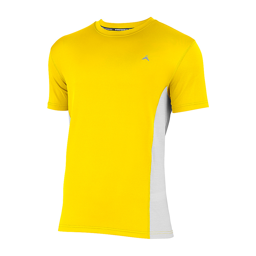 Arctic Cool Mens Instant Cooling Shirt with Mesh S Yellow Arctic Cool Men s Apparel