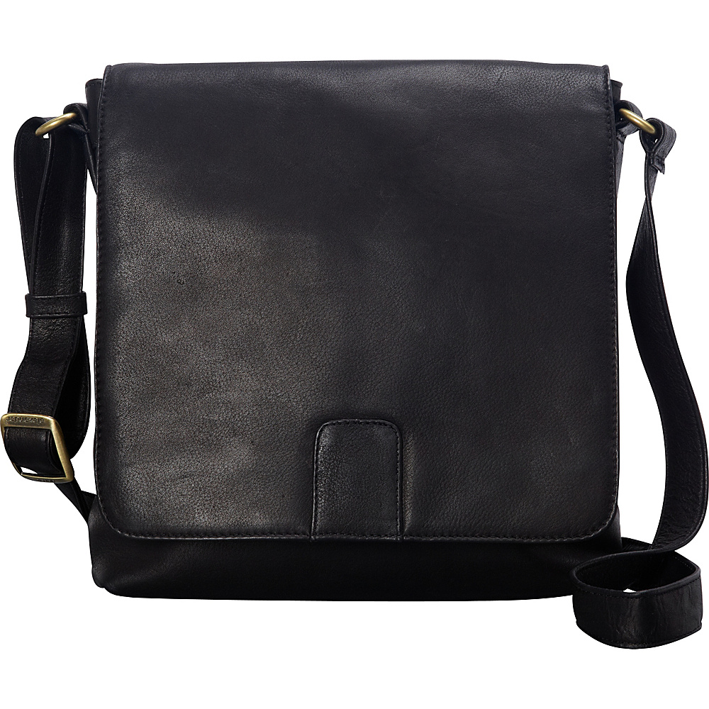 Derek Alexander NS Flapover Crossbody Black - Derek Alexander Leather Handbags - Handbags, Leather Handbags