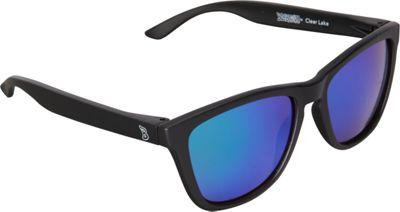 BlobFish Sunglasses Clear Lake Polarized Sunglasses Matte Black/Aquamarine - BlobFish Sunglasses Sunglasses