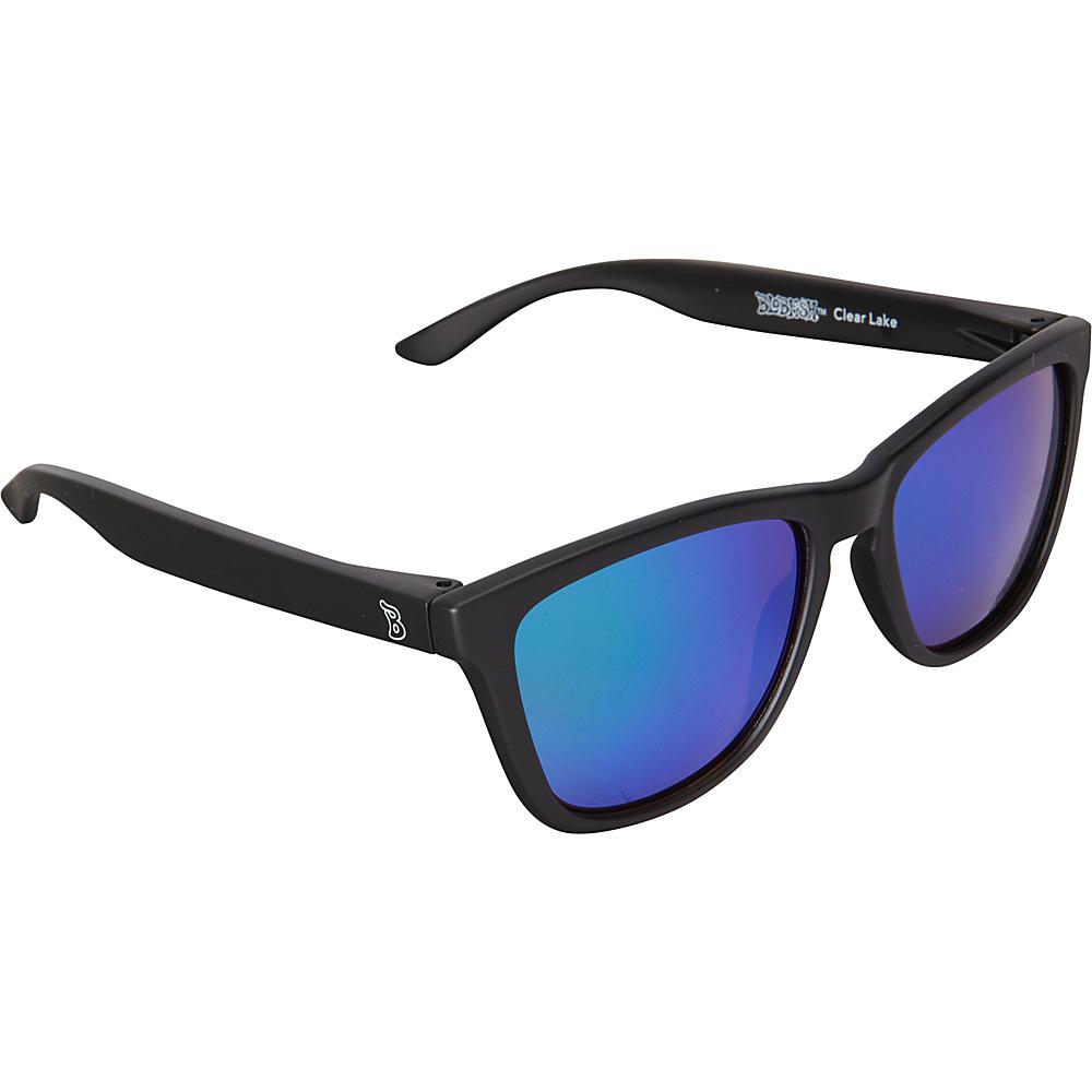 BlobFish Sunglasses Clear Lake Polarized Sunglasses Matte Black / Aquamarine - BlobFish Sunglasses Sunglasses
