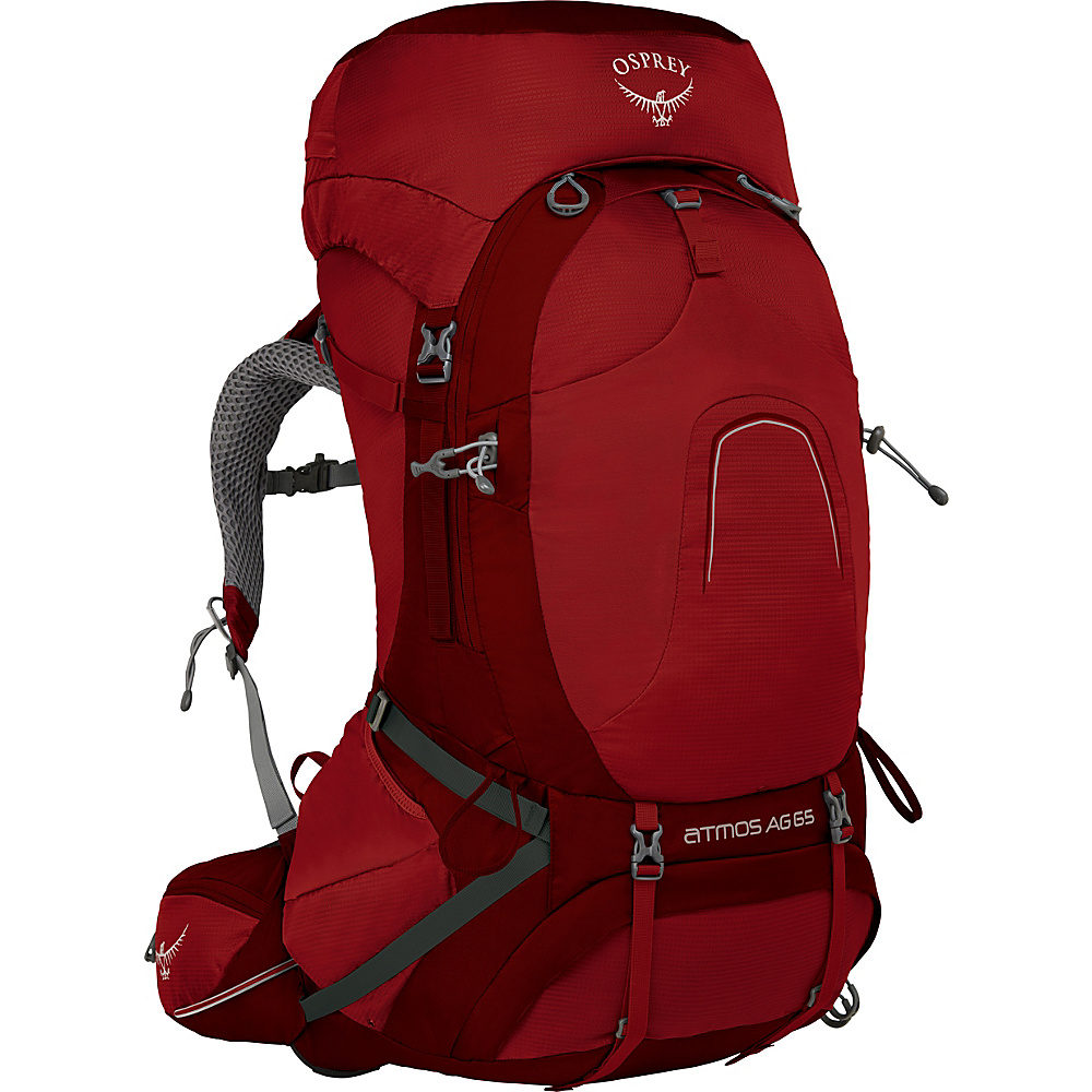 Osprey Atmos AG 65 Backpack Rigby Red – SM - Osprey Backpacking Packs - Outdoor, Backpacking Packs