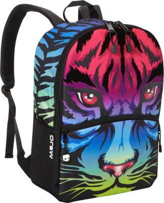Mojo Rainbow Tiger Backpack Multicolor - Mojo Everyday Backpacks