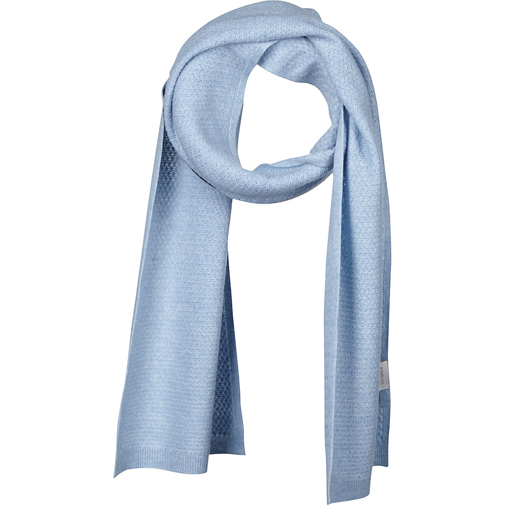 Kinross Cashmere Basketweave Scarf Ice Blue - Kinross Cashmere Hats/Gloves/Scarves - Fashion Accessories, Hats/Gloves/Scarves