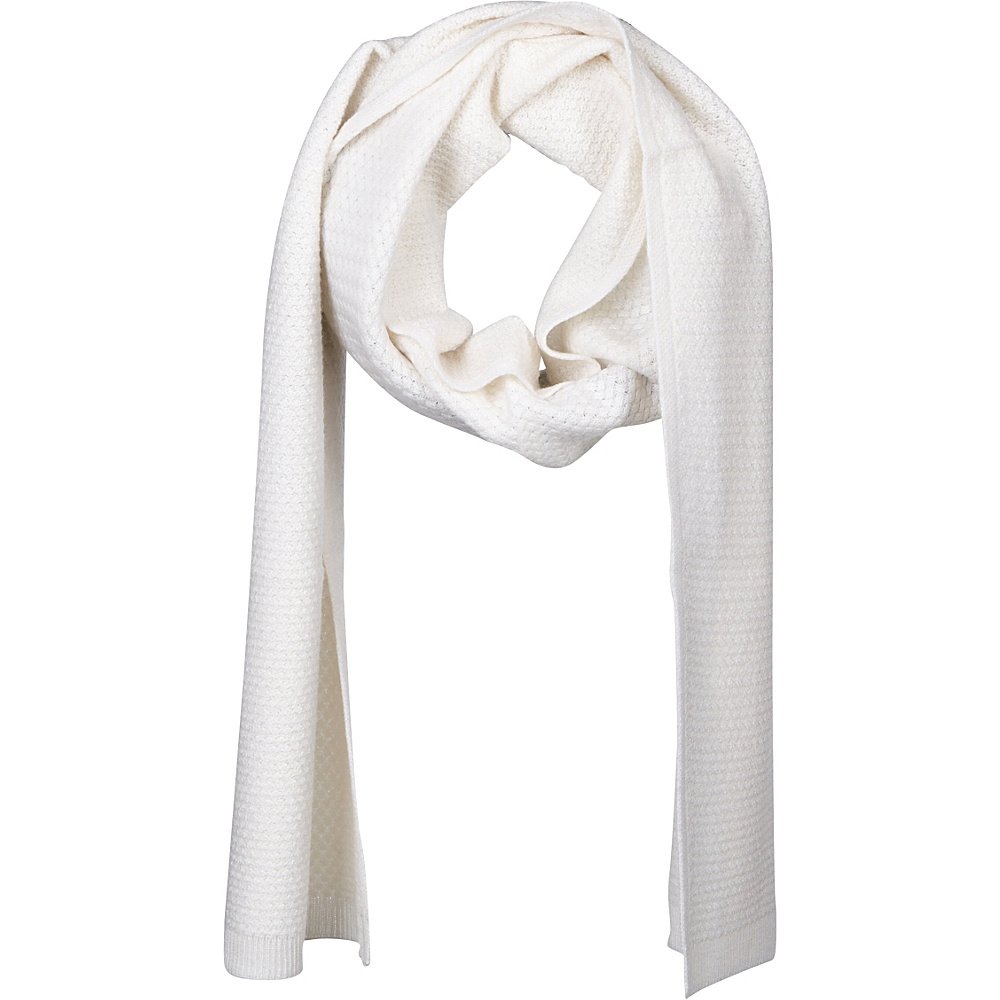 Kinross Cashmere Basketweave Scarf Ivory - Kinross Cashmere Hats/Gloves/Scarves - Fashion Accessories, Hats/Gloves/Scarves