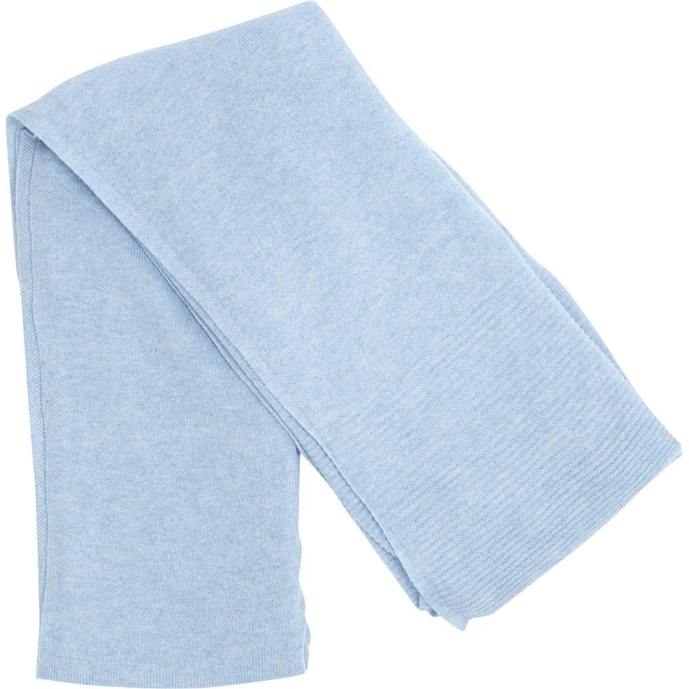 Kinross Cashmere Solid Travel Wrap Ice Blue Kinross Cashmere Hats Gloves Scarves
