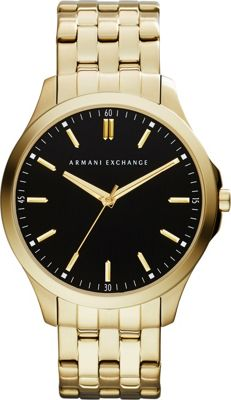 A/X Armani Exchange Smart LP Stainless Steel Watch Gold - A/X Armani Exchange Watches