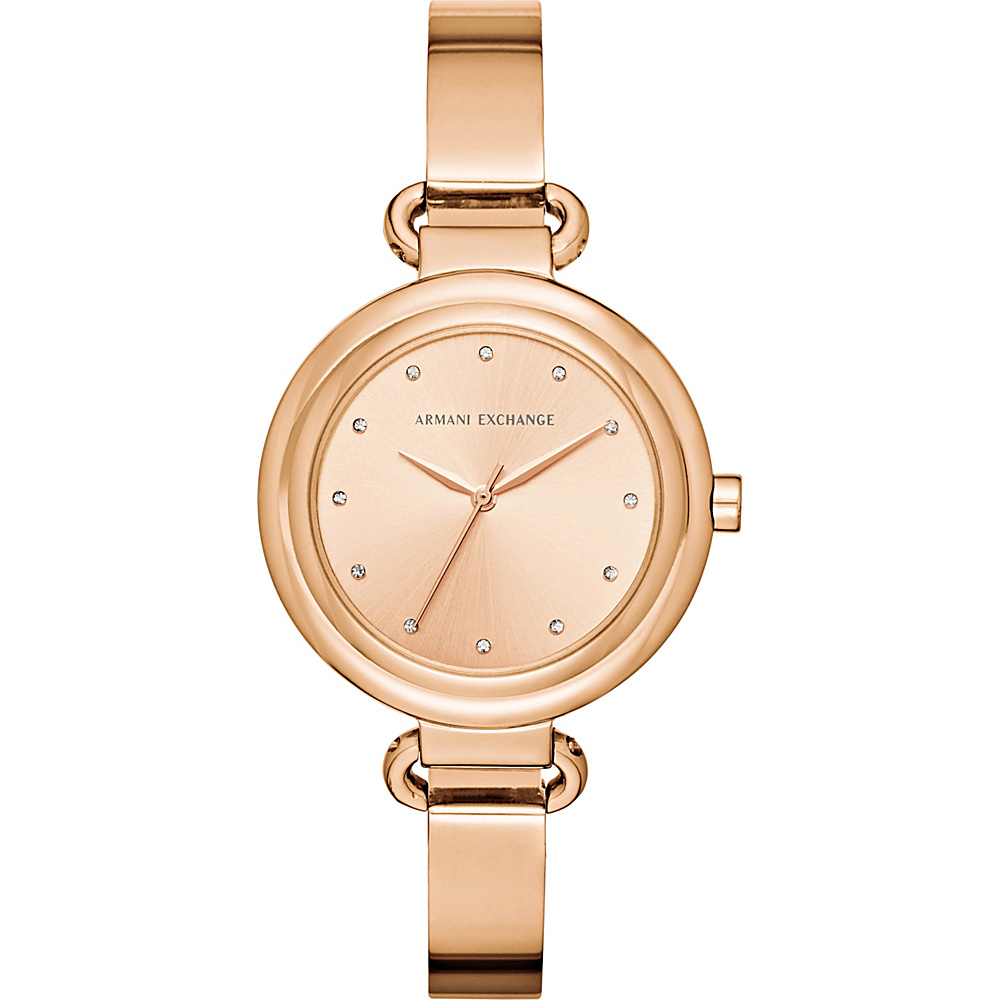 A X Armani Exchange Smart Womens Stainless Steel Watch Rose Gold A X Armani Exchange Watches