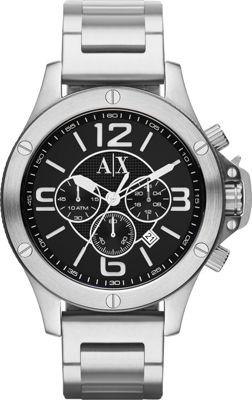 A/X Armani Exchange Street Stainless Chronograph Watch Silver - A/X Armani Exchange Watches