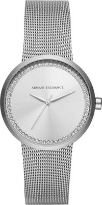 A/X Armani Exchange Street Womens Stainless Steel Watch Silver - A/X Armani Exchange Watches