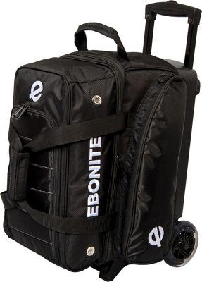 Ebonite Eclipse Double Roller Bowling Bag Black - Ebonite Bowling Bags