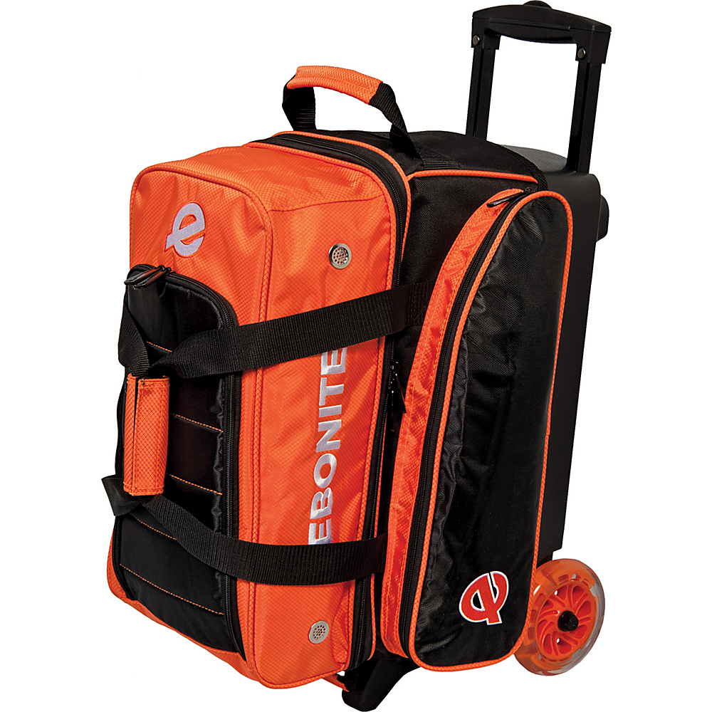Ebonite Eclipse Double Roller Bowling Bag Orange Ebonite Bowling Bags