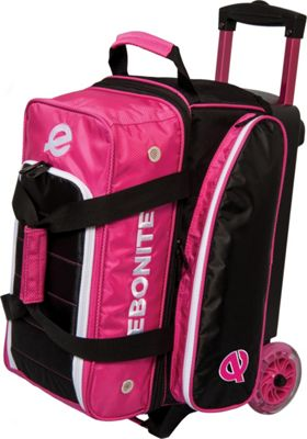 Ebonite Eclipse Double Roller Bowling Bag Pink - Ebonite Bowling Bags