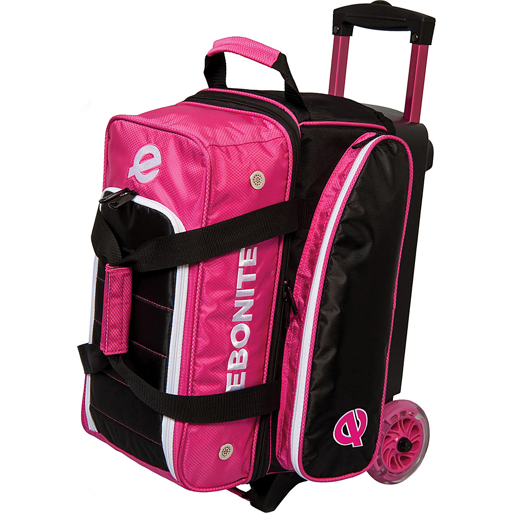 Ebonite Eclipse Double Roller Bowling Bag Pink Ebonite Bowling Bags