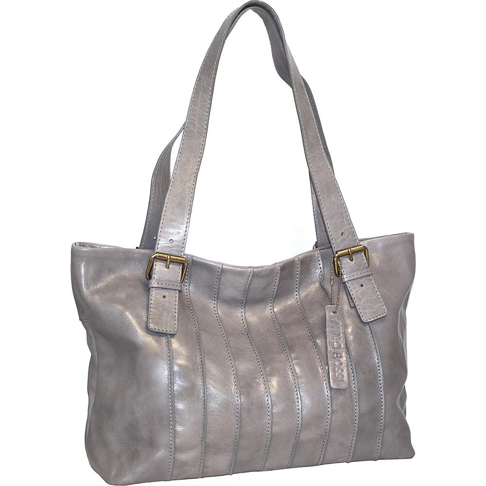 Nino Bossi Rose Bud Tote Stone - Nino Bossi Leather Handbags - Handbags, Leather Handbags
