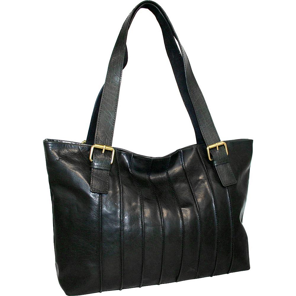 Nino Bossi Rose Bud Tote Black - Nino Bossi Leather Handbags - Handbags, Leather Handbags