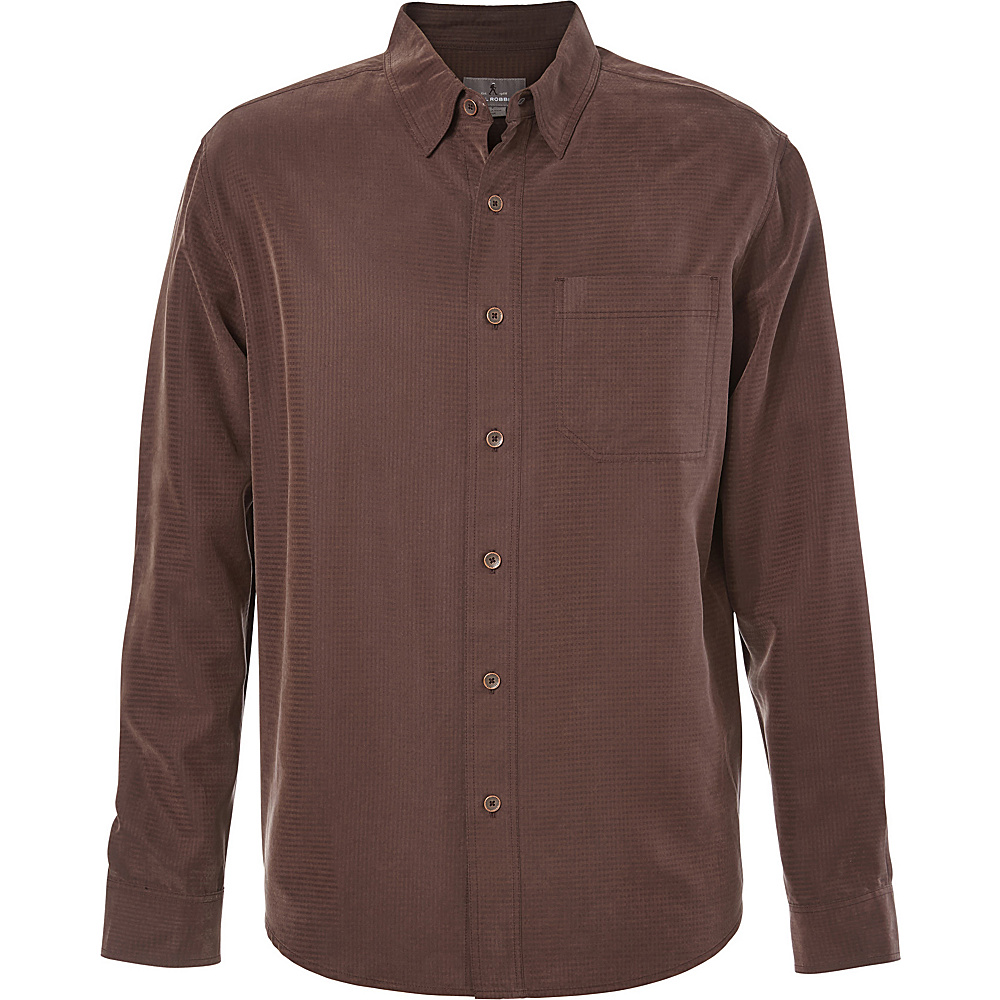 Royal Robbins Desert Pucker Long Sleeve Top S - Dark Chestnut - Royal Robbins Mens Apparel - Apparel & Footwear, Men's Apparel