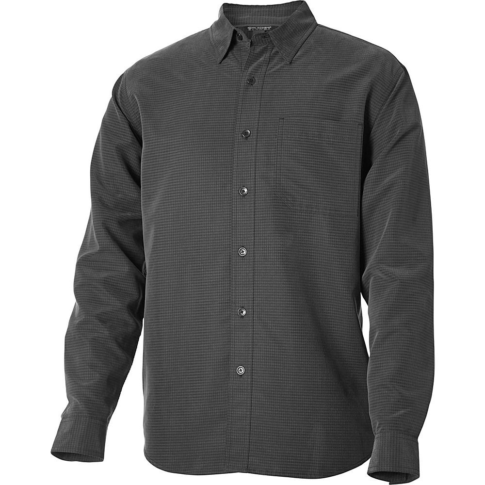Royal Robbins Desert Pucker Long Sleeve Top M - Obsidian - Royal Robbins Mens Apparel - Apparel & Footwear, Men's Apparel