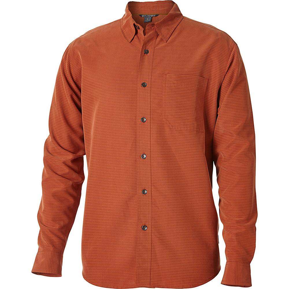 Royal Robbins Desert Pucker Long Sleeve Top M - Fox - Royal Robbins Mens Apparel - Apparel & Footwear, Men's Apparel