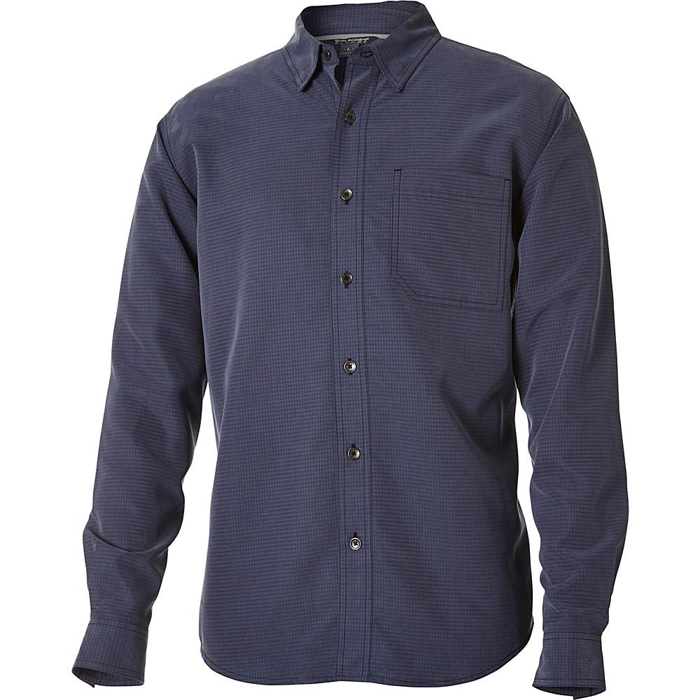 Royal Robbins Desert Pucker Long Sleeve Top S - Navy - Royal Robbins Mens Apparel - Apparel & Footwear, Men's Apparel