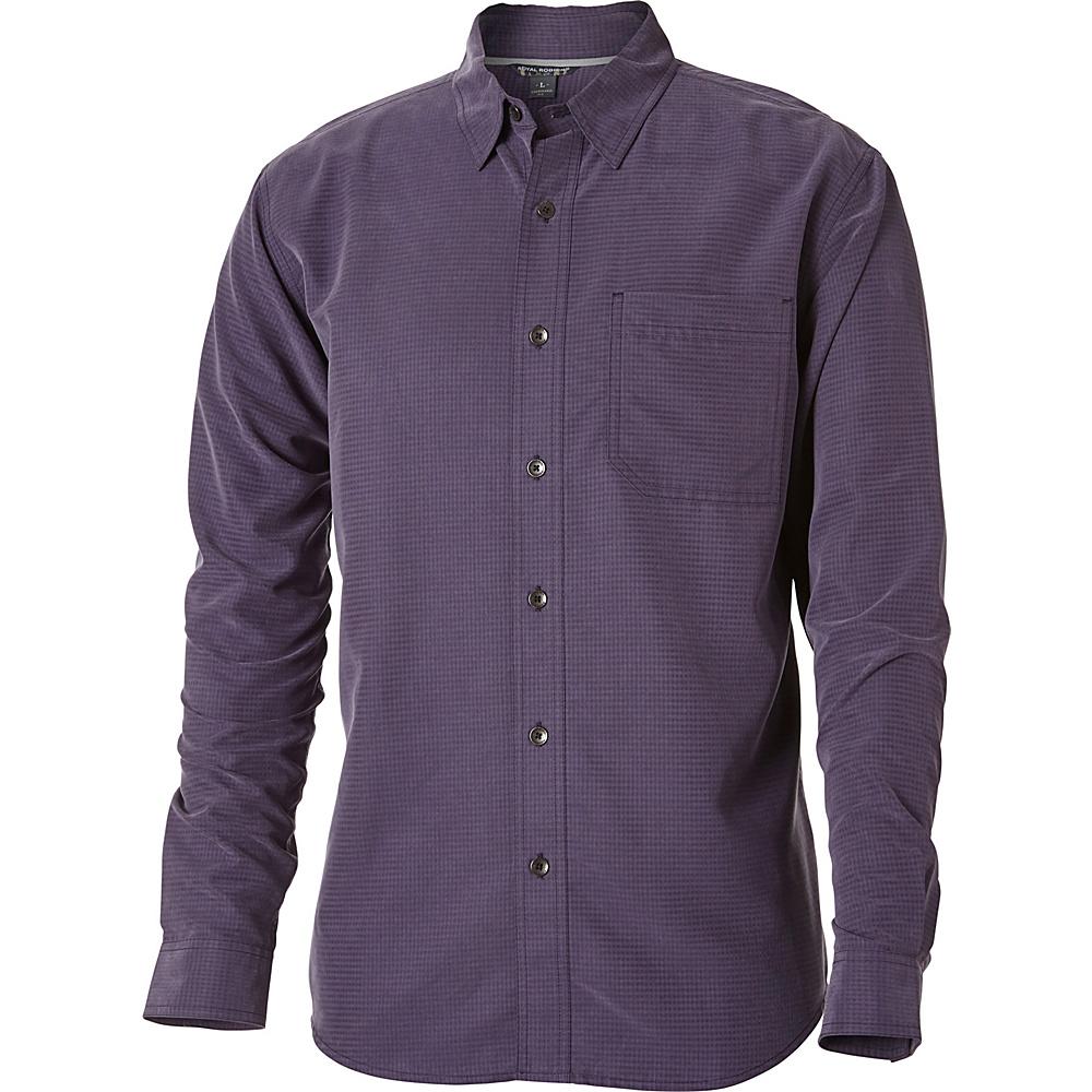 Royal Robbins Desert Pucker Long Sleeve Top S - Graystone - Royal Robbins Mens Apparel - Apparel & Footwear, Men's Apparel