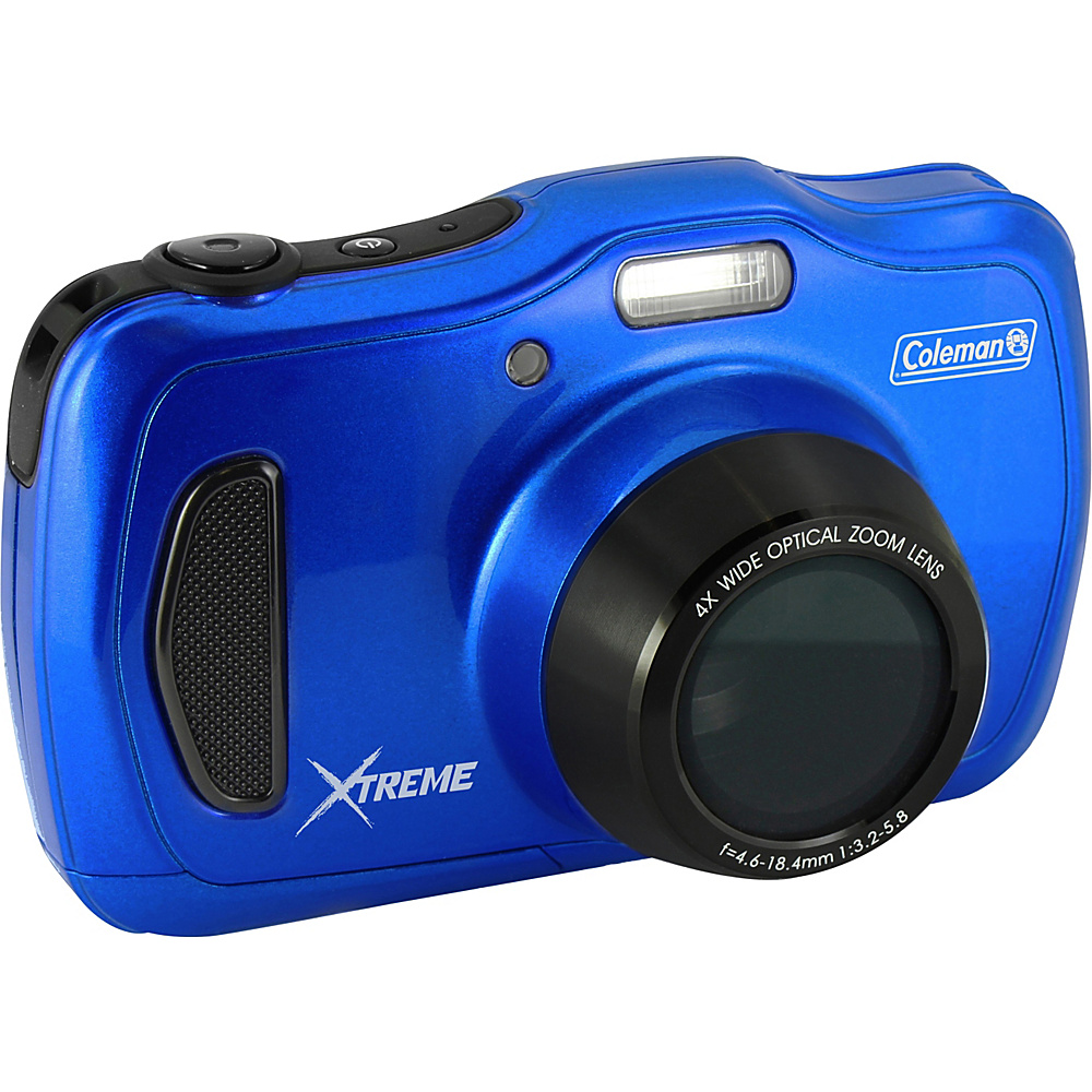 Coleman Xtreme4 20.0 MP 1080p HD 4X Optical Zoom Underwater Digital Video Camera Waterproof to 33 ft Blue Coleman Cameras