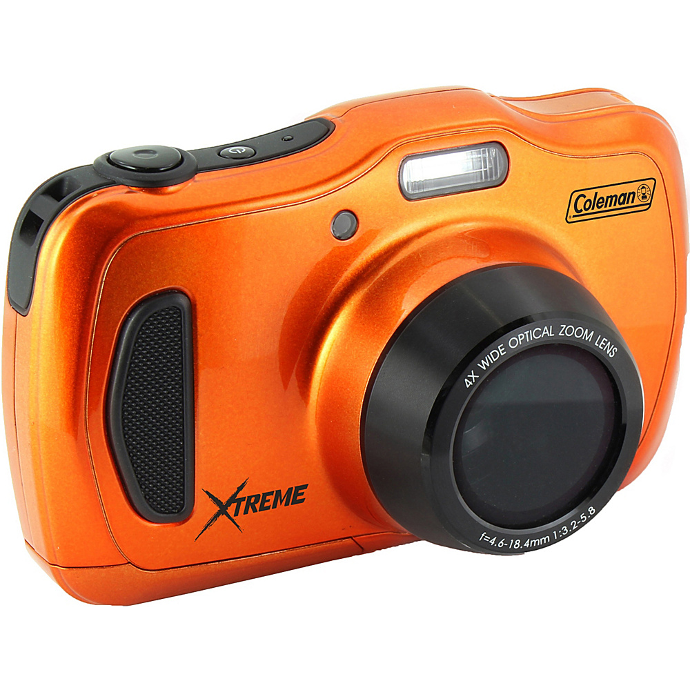 Coleman Xtreme4 20.0 MP 1080p HD 4X Optical Zoom Underwater Digital Video Camera Waterproof to 33 ft Orange Coleman Cameras