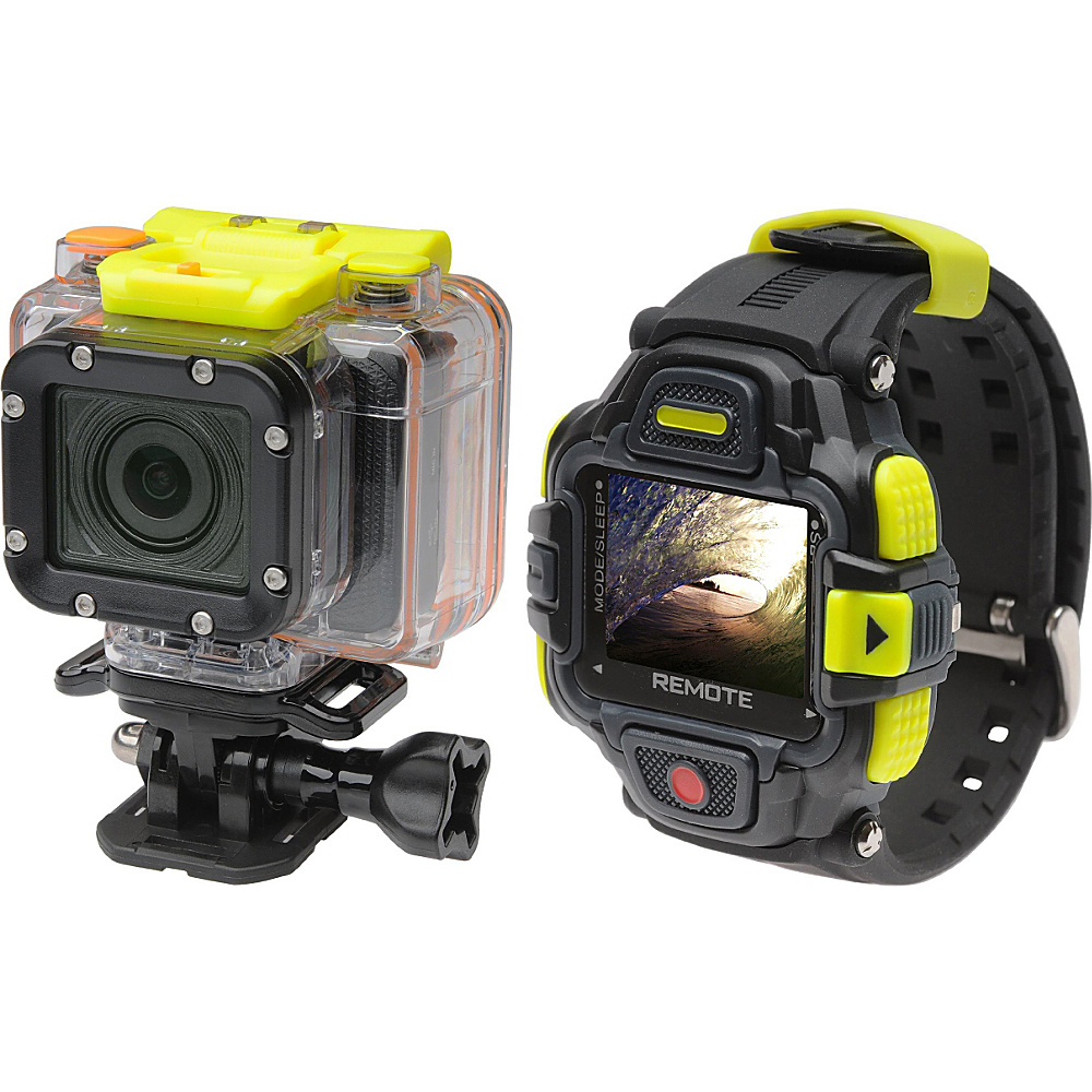 Coleman Conquest2 1080p60fps HD 16.0 MP Waterproof Sports Camera Kit with Wi Fi and Color LCD Remote Control Watch Black Coleman Cameras