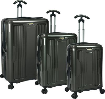 PROKAS Ultimax  3-Piece Spinner Luggage Set Charcoal - PROKAS Luggage Sets