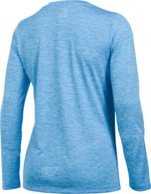 Under Armour Tech Long Sleeve-Twist S - Midnight Navy/Metallic Silver - Under Armour Women's Apparel