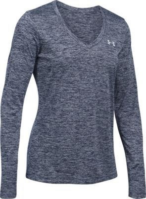 Under Armour Tech Long Sleeve-Twist XS - Midnight Navy/Metallic Silver - Under Armour Women's Apparel