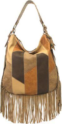 Jessica Simpson Delilah Crossbody Hobo Neutral - Jessica Simpson Manmade Handbags