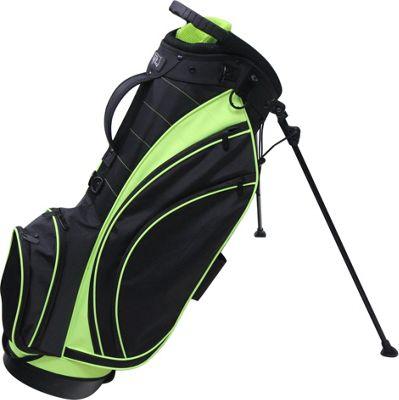 RJ Golf Lightweight Stand Bag Black/Lime - RJ Golf Golf Bags