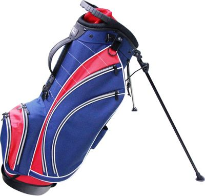 RJ Golf Lightweight Stand Bag Navy/Red - RJ Golf Golf Bags